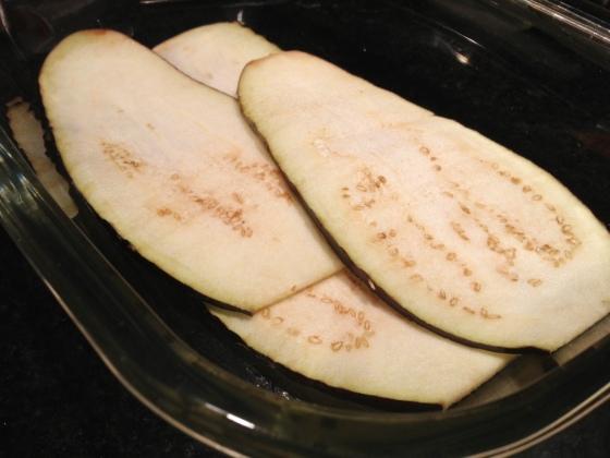 lasanha de berinjela fatias