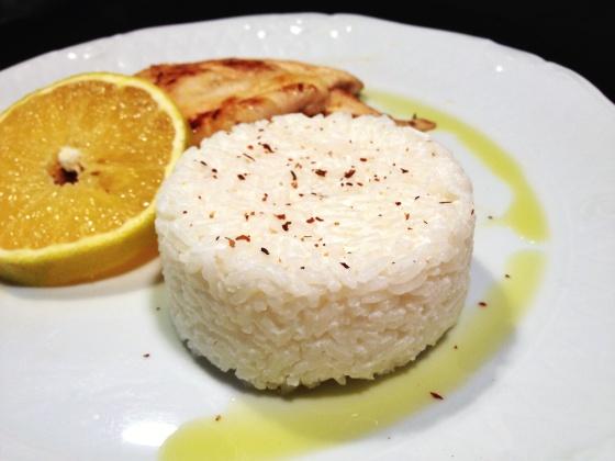 arroz desenformar servir