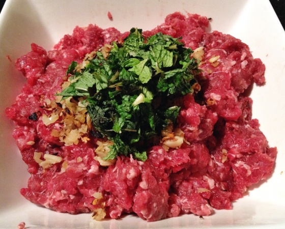 carne moída quibe