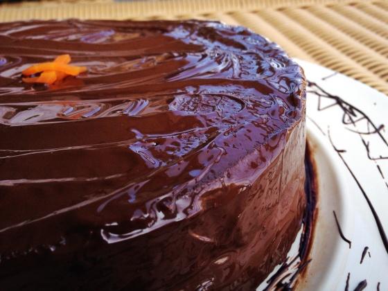 bolo de cenoura e chocolate brigadeiro