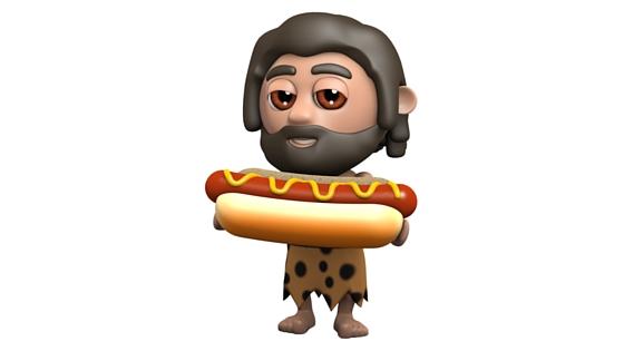 caveman hotdog
