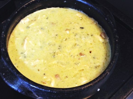 frango gorgonzola e batata palha